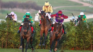 FACT OF THE MATTER (Right) ridden by Gavin Sheehan wins at Cheltenham 14/12/18 Photograph by Grossick Racing Photography 0771 046 1723