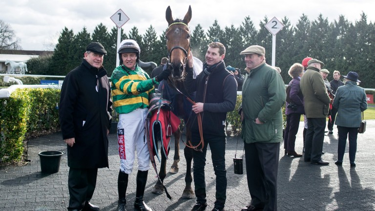 Ok Corral: made a winning chasing debut at Plumpton and is being aimed at the National Hunt Chase
