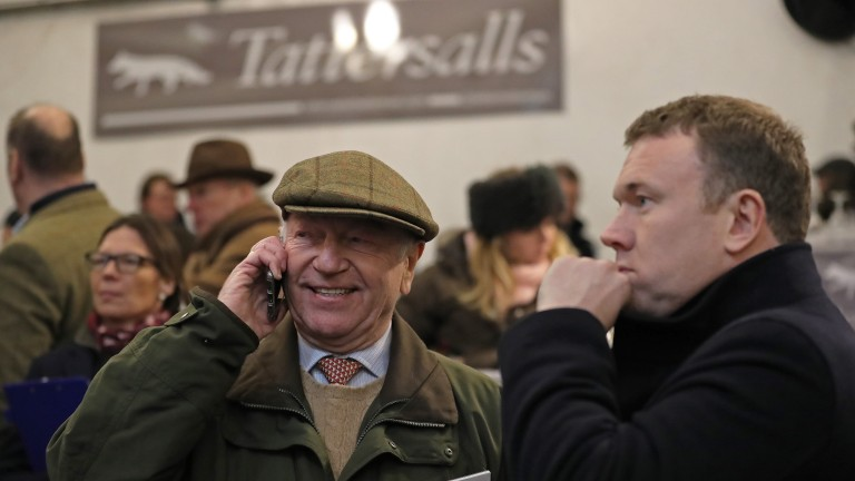 Eric Elliott (left) with son Alex after seeing Chantry House sell for £295,000
