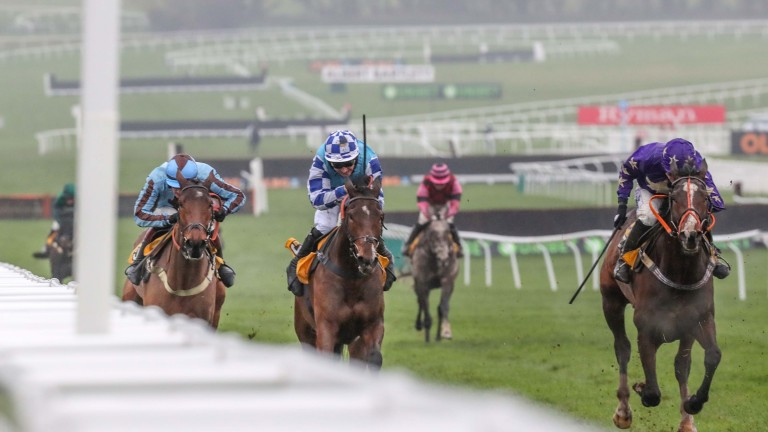 Nelson River (right) won at Cheltenham in December