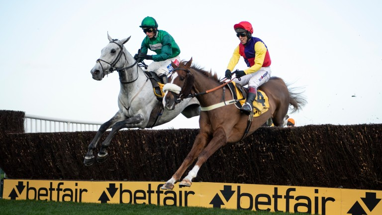 Bristol De Mai (left) beat Native River in the Betfair Chase. Can he do it at Kempton?