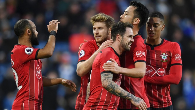 Southampton celebrate Danny Ings's goal during win over Huddersfield