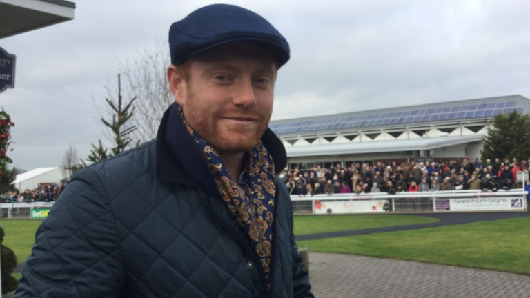 Racing fan Johnny Bairstow, pictured at Wetherby last Christmas, will be in World Cup action at Lord's