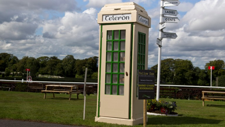 The original phone box from Barney Curley's Yellow Sam coup