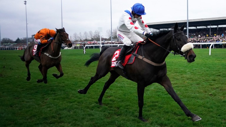 Clan Des Obeaux and Harry Cobden come away from Thistlecrack to land the King George VI Chase at Kempton