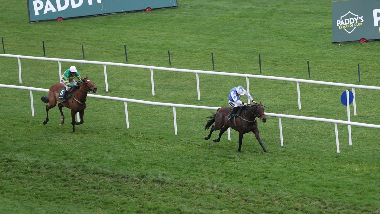 Aramon goes clear under Ruby Walsh to land the Paddy Power Future Champions Novice Hurdle at Leopardstown