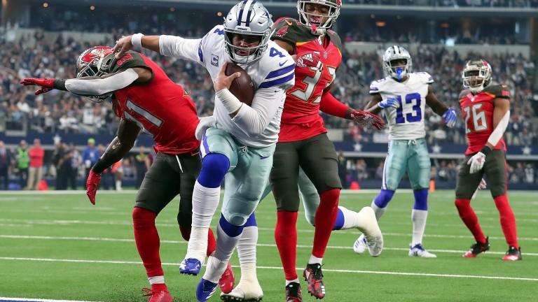 Dallas quarterback Dak Prescott scored a touchdown against Tampa Bay