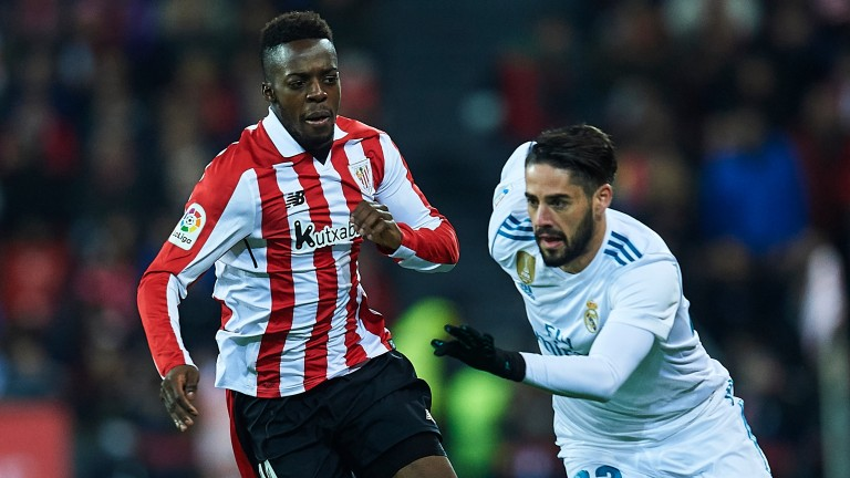 Athletic's Inaki Williams (left) can steer them towards safety this season