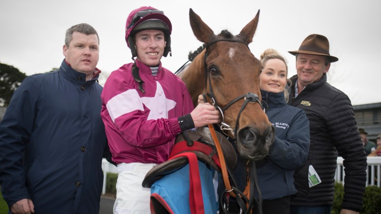 Battleoverdoyen with Gordon Elliott, Jack Kennedy, Louise Magee and Eddie O'Leary