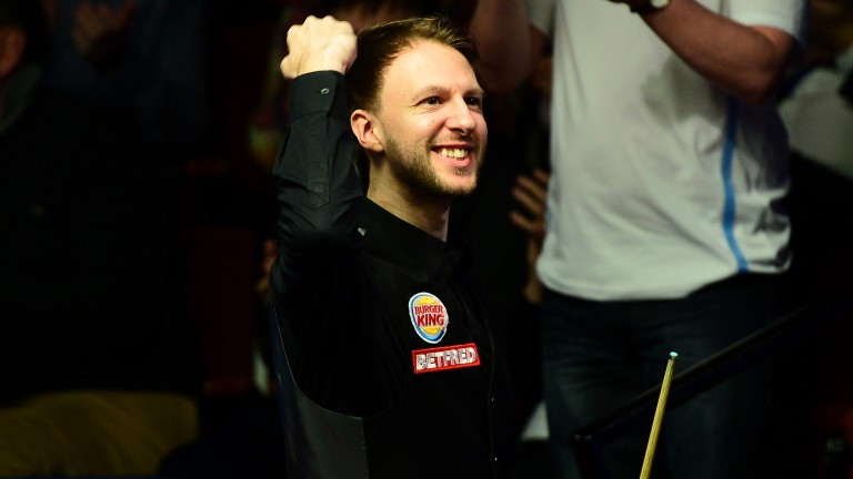 Judd Trump could be celebrating this afternoon