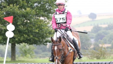 Natasha Galpin seen at the Hendersyde Horse Trials in 2017, was fatally injured while riding work for trainer Iain Jardine