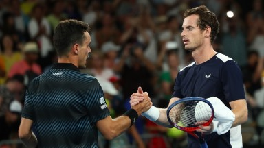 Roberto Bautista Agut (left) needed five sets to overcome Andy Murray