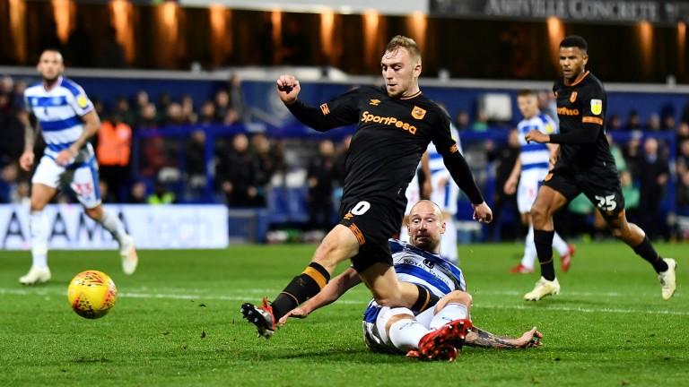 Jarrod Bowen scores for Hull City against QPR