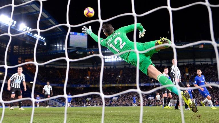 Chelsea's Willian scores against Newcastle