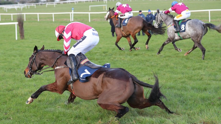 Total Recall and Ruby Walsh are all but down at the last as Tout Est Permis starts chasing down leader Sub Lieutenant