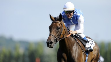 Deauville 16.8.09 Pic:Edward WhitakerGoldikova and Olivier Peslier win the Jacques Le Marois