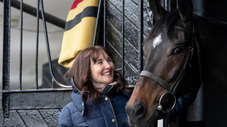 Debbie Matthews meets Altior, the horse who has helped her get over her mental health problems