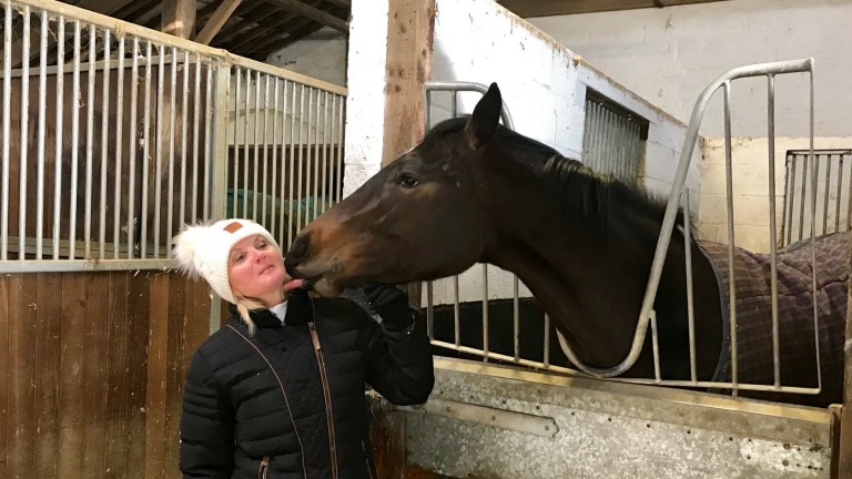 Gay Kelleway and new arrival Strictlycomeracing