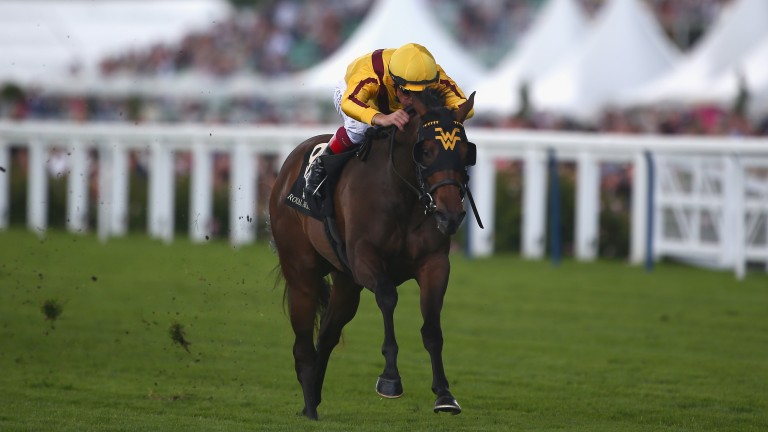 Lady Aurelia wins the Queen Mary Stakes at Royal Ascot in 2016