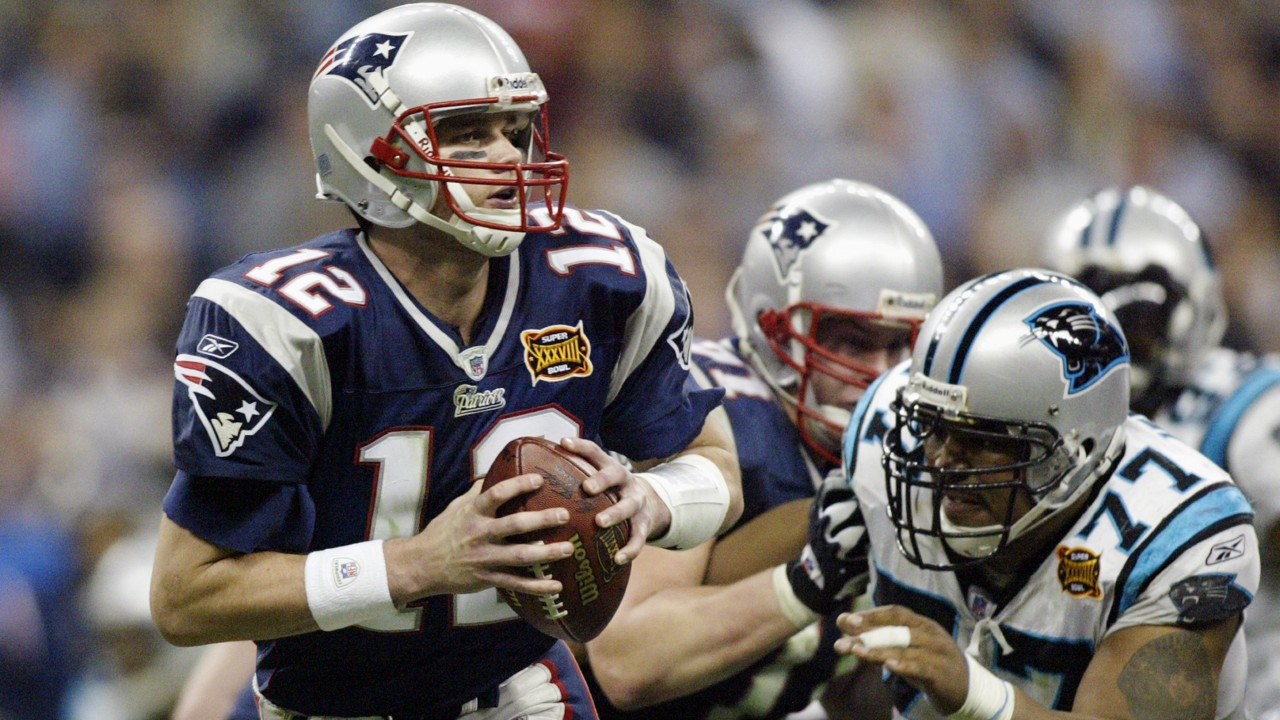 Tom Brady overcame the Carolina Panthers in his second Super Bowl win with  the New England Patriots in 2004 5a87135d6