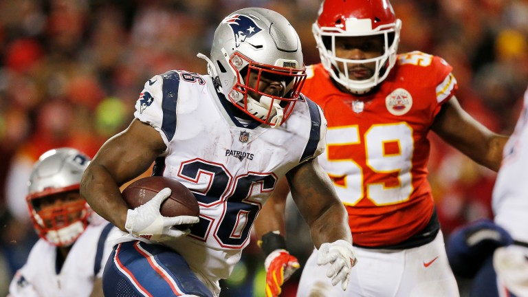 Sony Michel had 113 rushing yards and two touchdowns against Kansas City