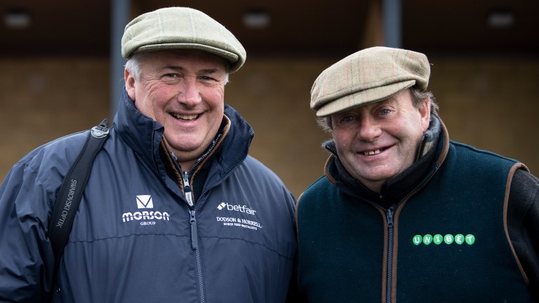 The race for champion trainer is heating up between Paul Nicholls and Nicky Henderson