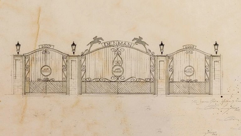 An artist's impression of the Denman gate