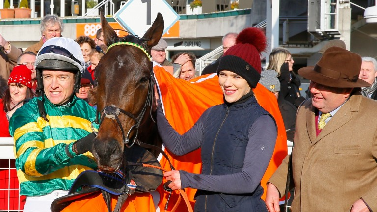 Connections were pleased to see Buveur D'Air win a third Contenders Hurdle