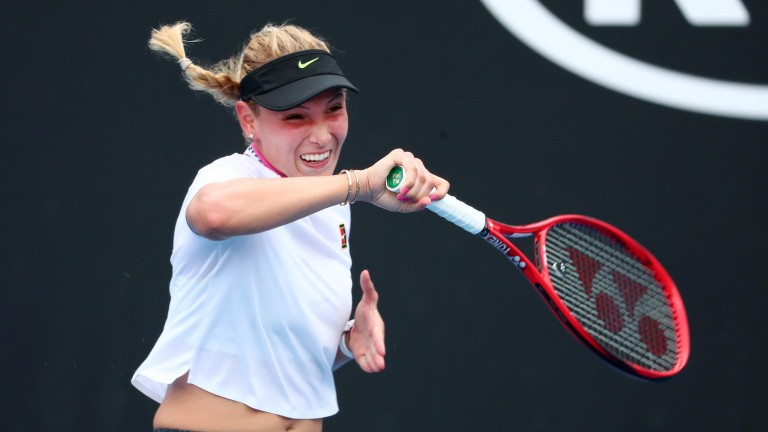 Donna Vekic in action at the Australian Open