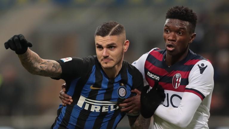 Inter striker Mauro Icardi (left) has been struggling for goals
