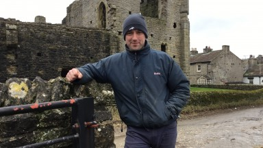Ben Haslam trains in the shadow of Middleham Castle
