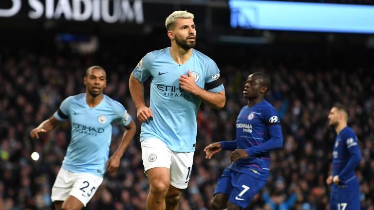 Manchester City's Sergio Aguero scored a hat-trick against Chelsea