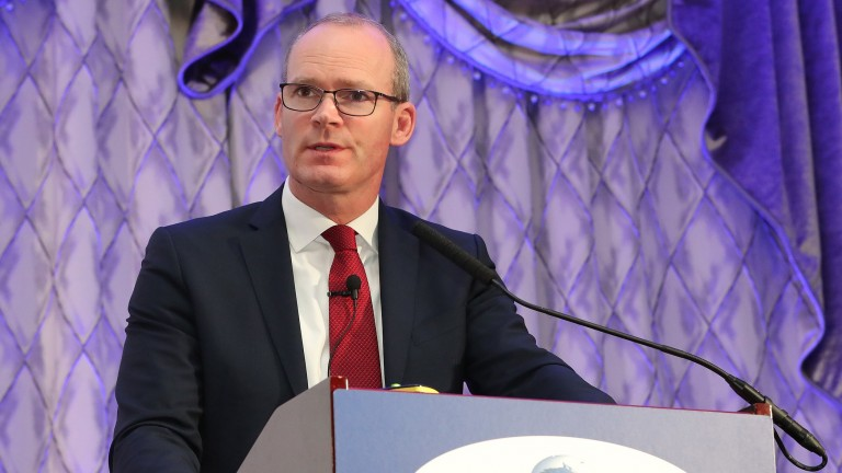 Tánaiste Simon Coveney speaking at the ITBA seminar at Lyrath Estate in Kilkenny