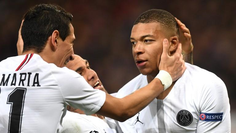 Kylian Mbappe scored PSG's second goal against Man Utd
