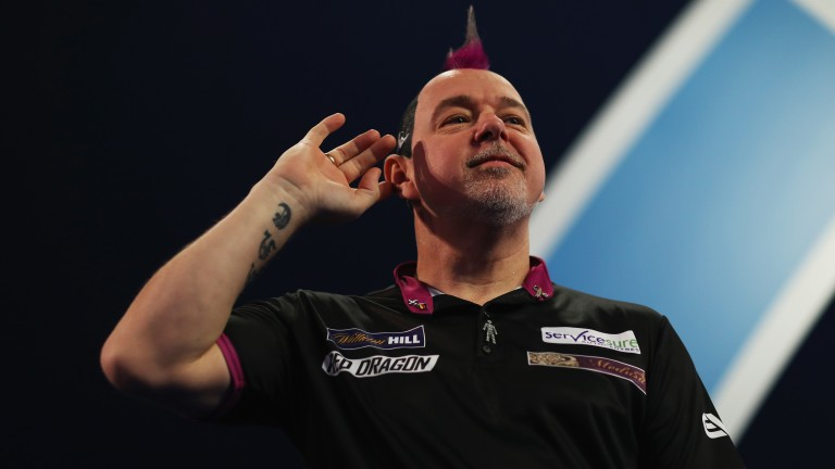 Crowd favourite Peter Wright likes to put on a show