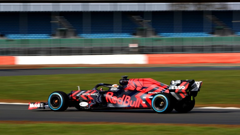 Max Verstappen drives the new Red Bull Honda at Silverstone