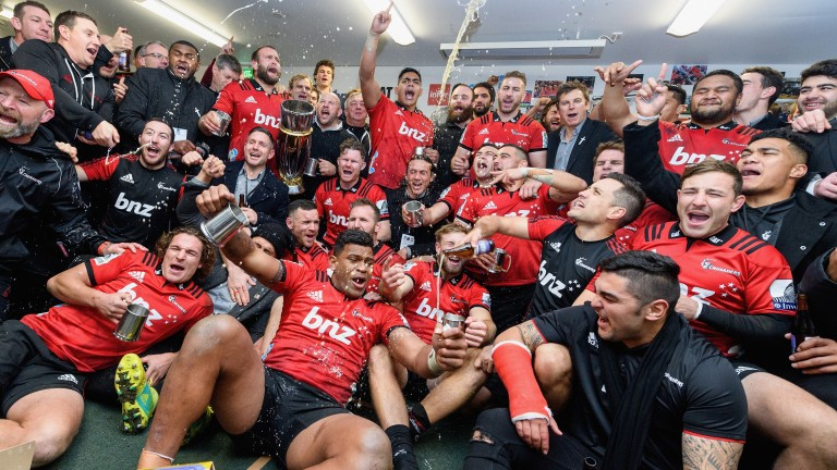 The Crusaders celebrate their 2018 success