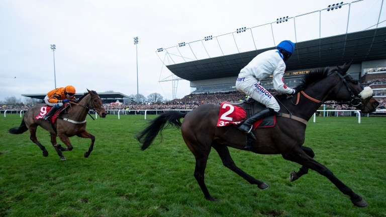 Clan Des Obeaux: King George winner tunes up for the Cheltenham Gold Cup at Ascot on Saturday