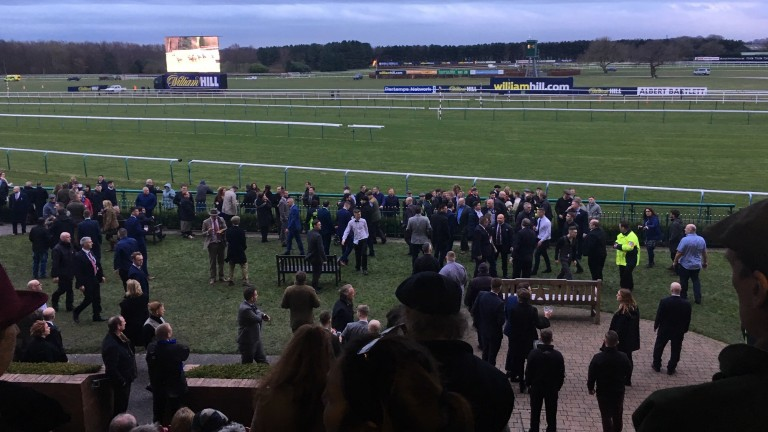 Haydock: fighting spills out on to the members' lawn