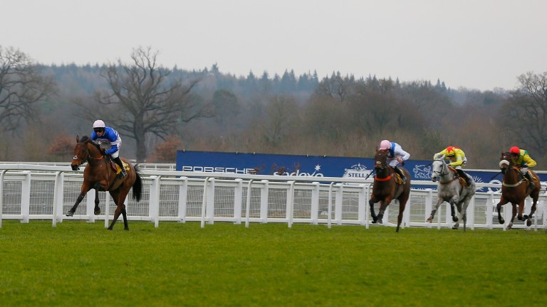 Cyrname pulls clear to win the Betfair Ascot Chase in fine style
