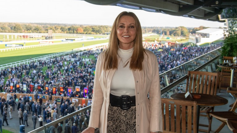 Carol Vorderman: pictured at Ascot last October