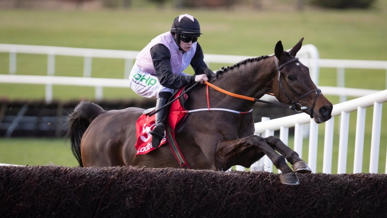 Chris's Dream and Rachael Blackmore on their way to winning the Ten Up Novice Chase at Navan