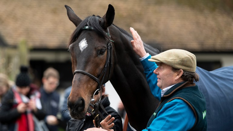 Nicky Henderson with last year's Champion Chase winner Altior