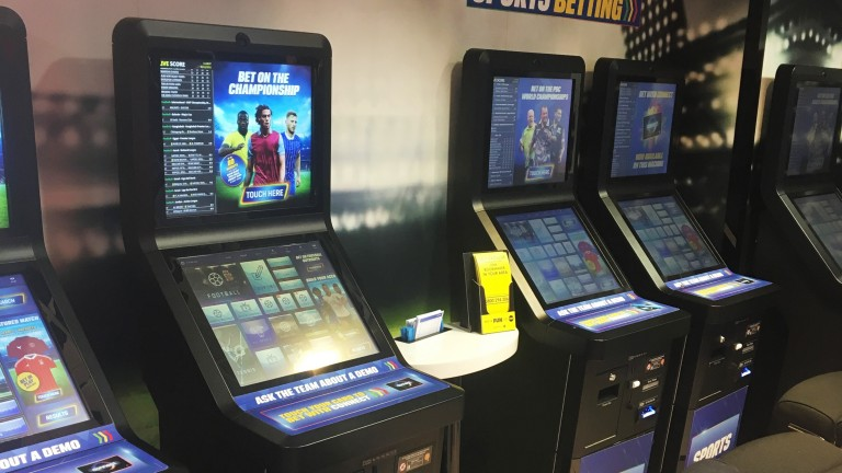 A self-service betting terminal turned itself off when Neil Channing was using it
