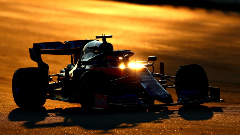 Daniil Kvyat of Toro Rosso set a sparkling time as twilight fell at Barcelona on Wednesday