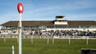 Lull before the storm: racegoers enjoy a sunny day at Lingfield on Friday
