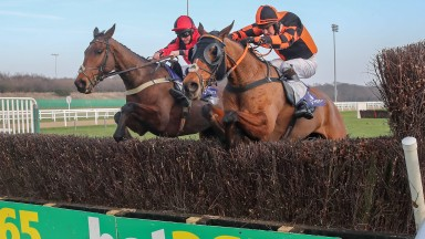 CROSSPARK (Jamie Moore) wins The Vertem Eider Chase at Newcastle 23/2/19 Photograph by Grossick Racing Photography 0771 046 1723