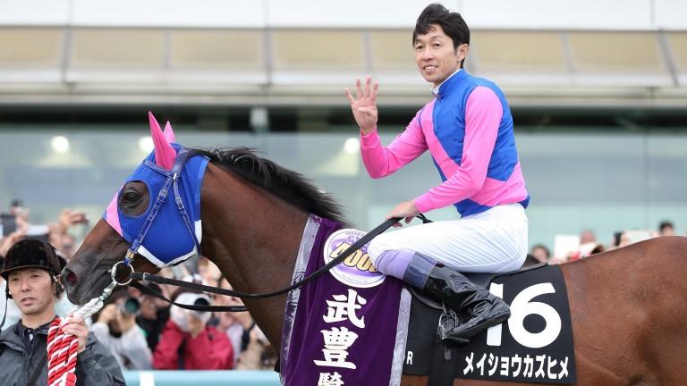 Jockey Yutaka Take is among those celebrating today