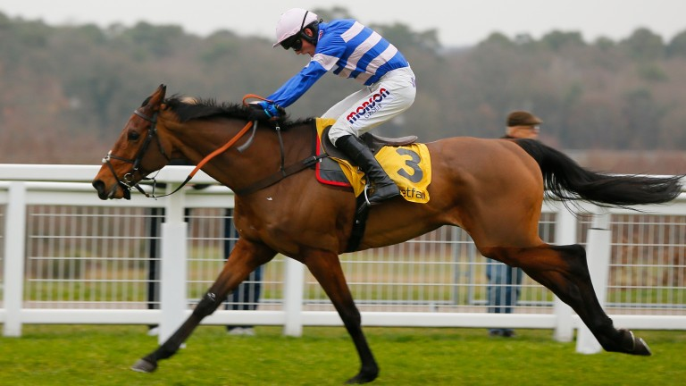 Cyrname powers clear under Harry Cobden to win the Ascot Chase