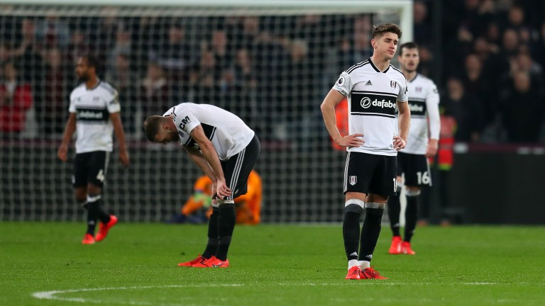 Fulham remain second from bottom in the Premier League standings